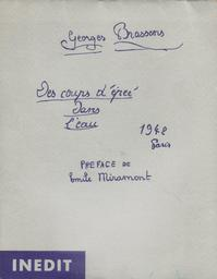 Des coups d'épée dans l'eau / Georges Brassens | Brassens, Georges (1921-1981)